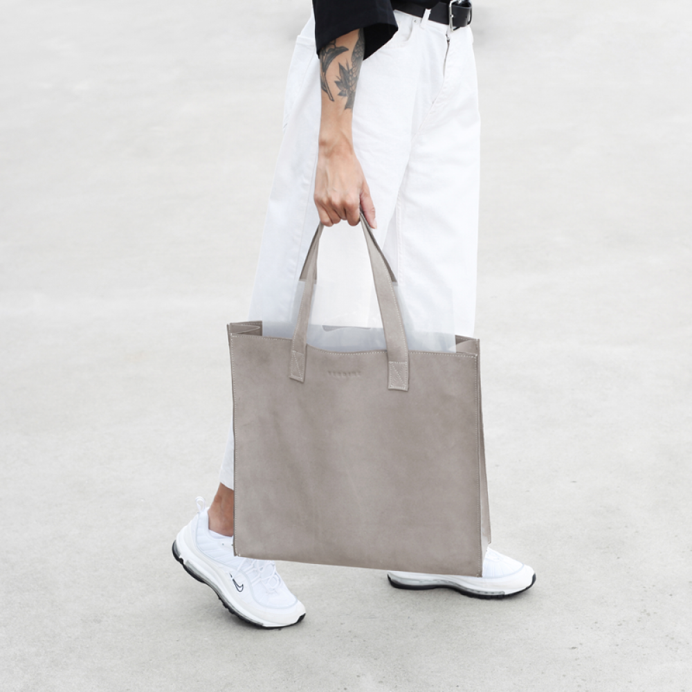 The Minimal XL | Big leather shopper