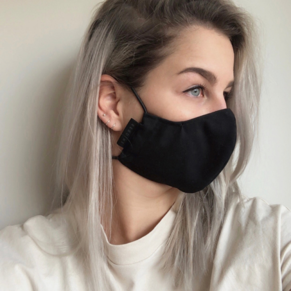 The Face Mask | Reusable face mask black, size L